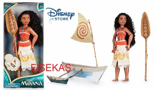 Disney Store Exclusive 11 Inch Classic Doll Moana with Paddle and paper Boat NEW