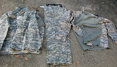 Army Combat Uniform & Combat Shirt, for wear by soldier or use in PAINTBALL (Wearing Acu Uniform)