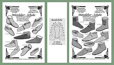 23 Schnittmuster 1:3 Mittelalter Schuhe Nr. 19 + 20 SonderPREIS