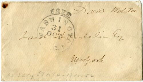 Daniel Webster Free-Franked Envelope