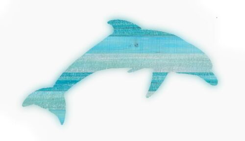 Dolphin wooden Slat Art porpoise fish nautical decor beach wall hanging painting