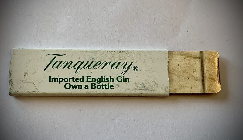 Vintage Box Cutter *Tanqueray Gin*
