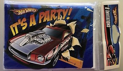 Hot Wheels Speed City Party Supplies Invitations w/env. - Party City Invitations