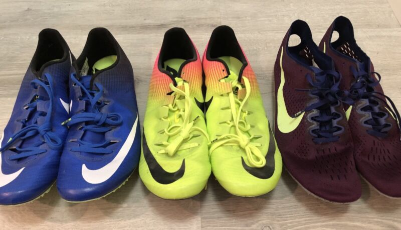 3 Pairs Of NEW Nike Track Spikes Zoom Superfly Elite / Victory shoes Men's 13