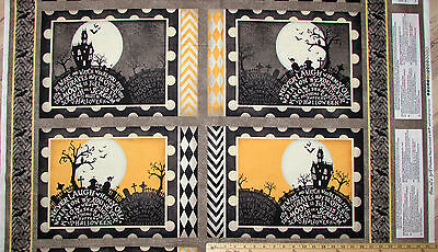 Come Sit a Spell Graveyard Halloween Fabric 23