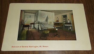 Vintage Postcard - Bedroom of General Washington Virginia - Unsent - Leet Bros