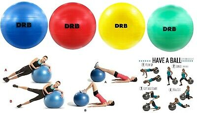 DRB Anti-Burst Balance Ball for Yoga Stability Gym Workout Training Size 55 cm
