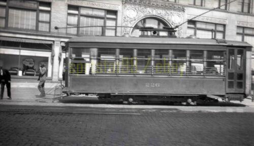 Electric Trolley / Streetcar #226 - c1940s - Vintage Railroad Negative