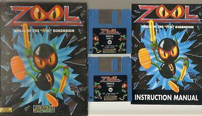 ZOOL n. 2 Floppy Videogioco AMIGA ITALIANO COMPLETO DI MANUALE Big Box