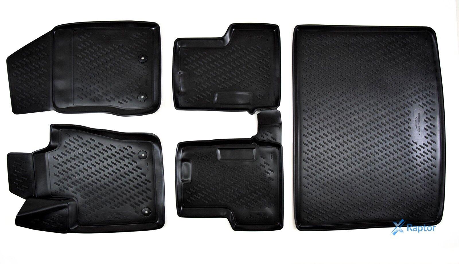 Kofferraumwanne für Volvo XC90 2002-2015 Exklusiv 3D TPE 5-tlg SET Gummimatten