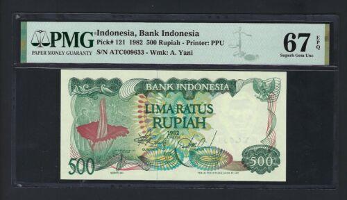 Indonesia 500 Rupiah 1982 P121 Uncirculated Graded 67