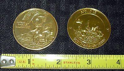 1971 72 Vintage Apollo 15   16 Gold Commemorative Coin Set  2  Free S H Wh3 M
