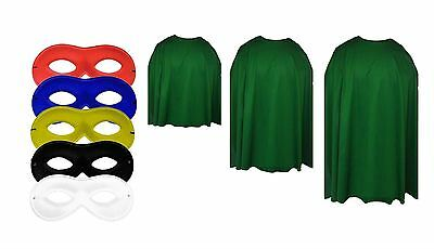 Adults Emerald Green Super Hero Cape With Any - Green Cape Kostüm
