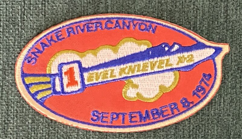 Evel Knievel Motorcycle Dare Devil Snake River Canyon Jump Iron Patch Hat Shirt