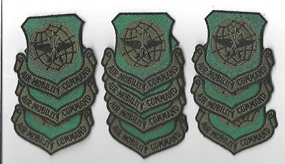 LOT OF 10 VINTAGE U.S. AIR FORCE AIR MOBILITY COMMAND  PATCHES  (M/P 3594)
