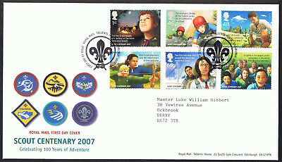 Scouts 2007 - First Day Cover - SG2758 to SG2763 Edinburgh Tallents Cancel
