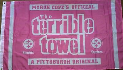 Pittsburgh Steelers Pink Terrible Towel Flag 3x5 ft NFL Banner Breast Cancer](Breast Cancer Banners)