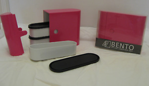2 Bento stylish lunch box units-NEW-Green, Pink or Blue $35/B.O.
