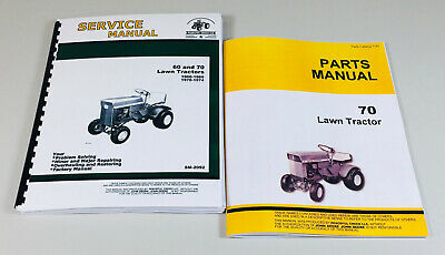 Service Manual Set For John Deere 70 Lawn Tractor Garden Parts Catalog Shop Book