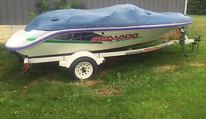 1995 Seadoo Speedster with trailer and cover