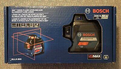 Bosch Gll3-300 360 Degree 200ft Three Plane Leveling Line Laser