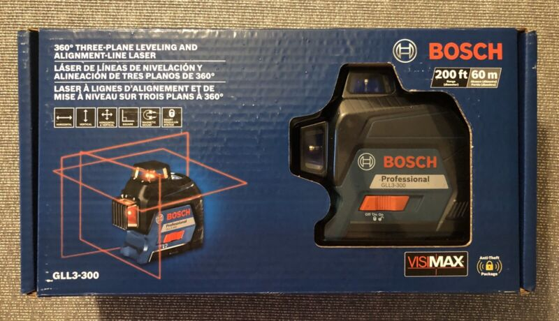 Bosch Gll3-300 360 Degree 200ft Three Plane Leveling Line Laser
