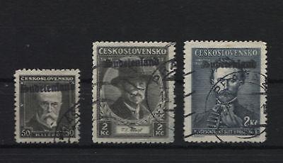 Sudetenland Konstantinsbad 24,25 und 33 signiert, aber trotzdem falsch (B06460)