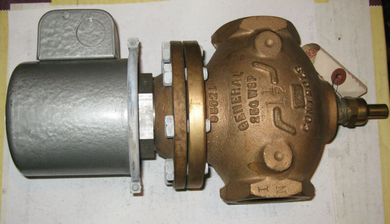 "General Controls Brass 1 1/2"" magnetic valve K15-B Cat. # K15BA7682 250 WSP #323"