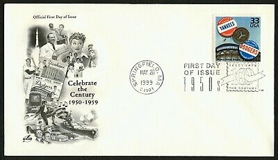 #3187j 33c World Series Rivals, Art Craft FDC **ANY 4=FREE SHIPPING**