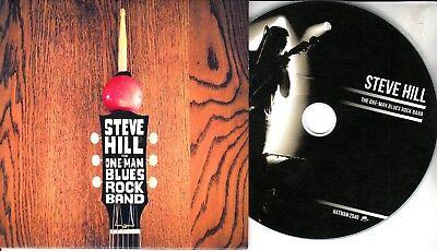 STEVE HILL The One Man Blues Rock Band 2018 UK 14-trk promo test CD