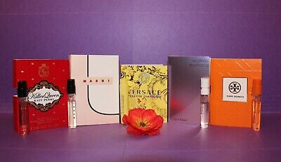 Lot of 5 Women's Perfume Samples: Killer Queen, Yellow Diamond, Endless Euphoria
