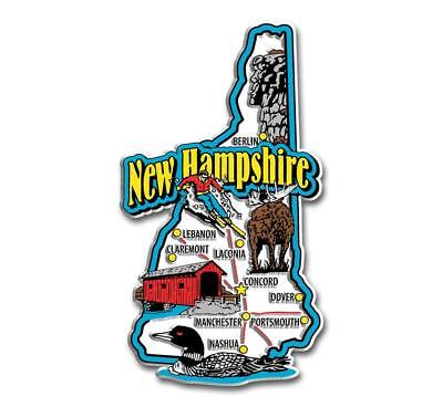 New Hampshire State Map (New Hampshire Jumbo State Map Fridge Magnet)