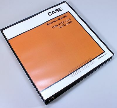 CASE 1737 UNI-LOADER SKID STEER SERVICE TECHNICAL MANUAL REPAIR SHOP BINDER
