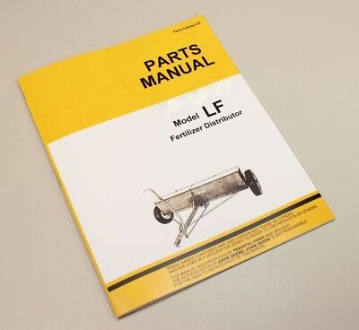 Parts Manual John Deere Lf Lfi 8 10 12 Fertilizer Distributor Catalog Spreader