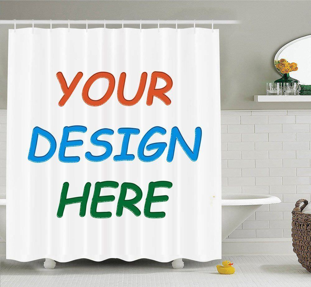 New Personalized Customize Image Shower Curtain Fabric & 12h