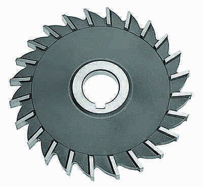KEO Milling 00360 Staggered Tooth Milling Cutter,S Style HSS 3 Cutting Diameter Uncoated Coating Standard Cut 1 Arbor Hole 7//8 Width 16 Teeth