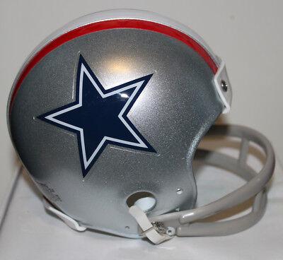 1976 Dallas Cowboys Riddell 2 Bar Mini Helmet - Roger Staubach