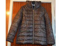 Ladies animal print padded jacket size 10/12