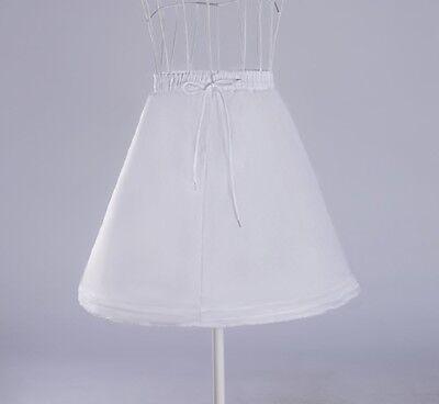 Puffy Skirts For Kids (New Girl's White Crinoline Slip Petticoat Puffy Underskirt  For Wedding)