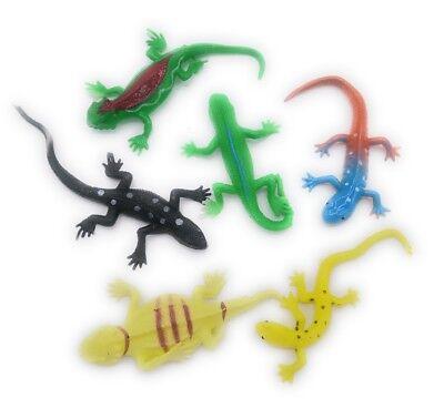 6 Gecko Strech - dehnbar Eidechse klebrig Tier Mitgebsel Geburtstag Tombola Neu