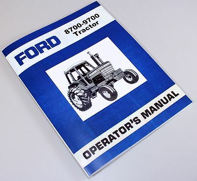 Ford 8700 9700 Tractor Owners Operators Manual Book Maintenance Instructions