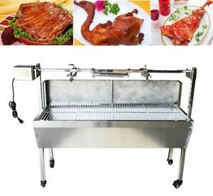 """35"""" Stainless Steel BBQ Pig Lamb Goat Chicken Spit Roaster 251119"""