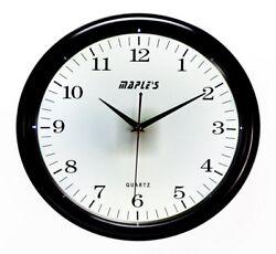 Maple's White LED Style Wall Clock 14  Plastic Nite Time Black/White LMC143