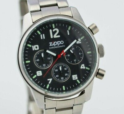 J753 Authentic Vintage Zippo Chronograph Swiss Made Quartz Watch 30.3