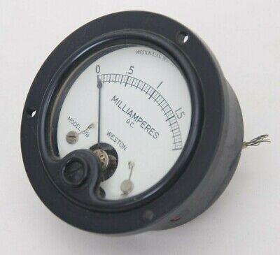 Vintage Weston Direct Current Milliamperes Panel Meter Gauge 0-2 Model 506