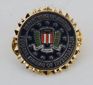 us department of justice federal bureau of invertigation lapel badge 32713 ebay. Black Bedroom Furniture Sets. Home Design Ideas