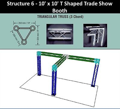 10x10 High T Triangular Truss Trade Show Booth.