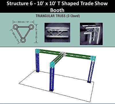 10x10 High T Triangular Truss Trade Show Booth.