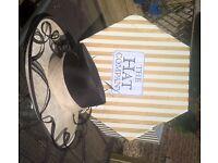 Chocolate & Cream Wedding/Races Hat
