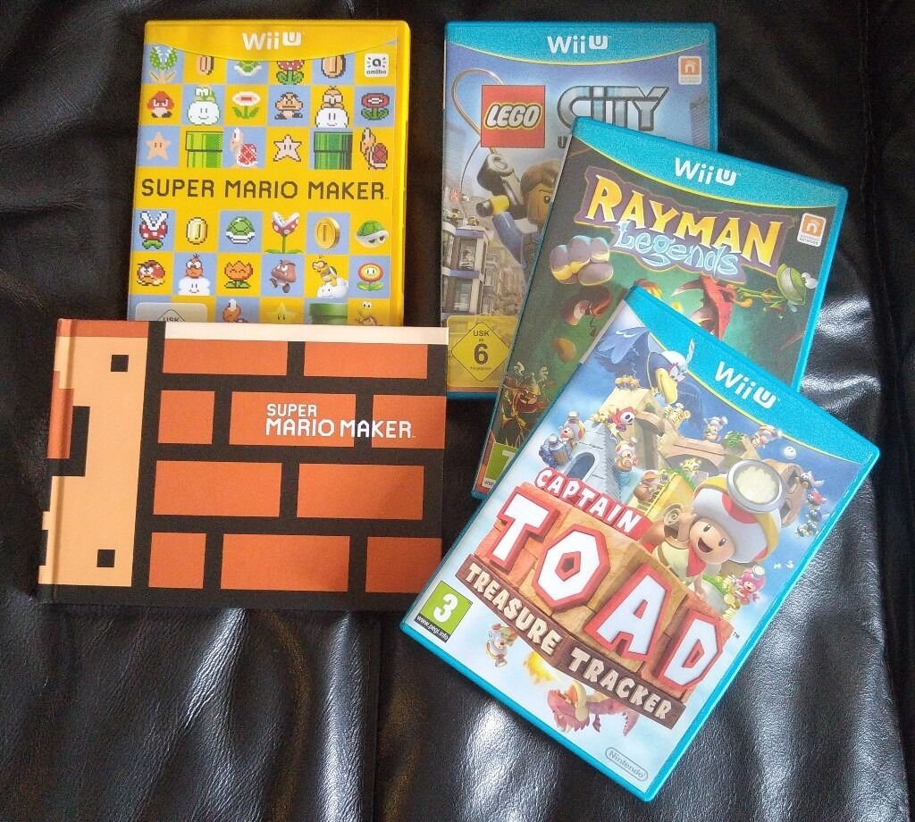 Wii U Games Including Mario Maker Lego City Captain Toad Switch Rayman Legends English Pal